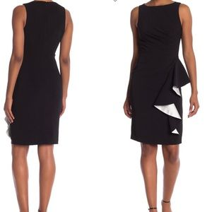 NWT $295 Carmen Marc Valvo Ruffle Front Dress 4
